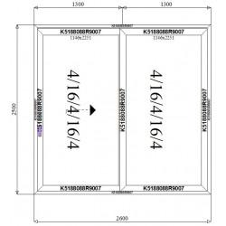 Drzwi Aluminiowe HST 2600 x 2500