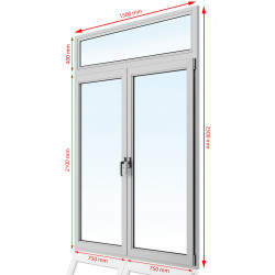 Drzwi balkonowe PCV 1500 x 2500