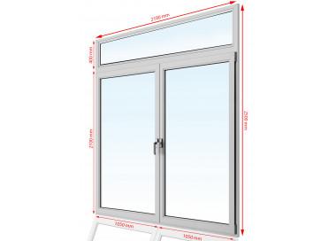 Drzwi balkonowe  PCV  2100 x 2500