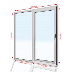 Drzwi balkonowe PCV 2000 x 2200