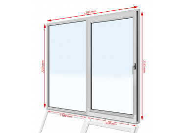 Drzwi balkonowe PCV  2200 x  2200
