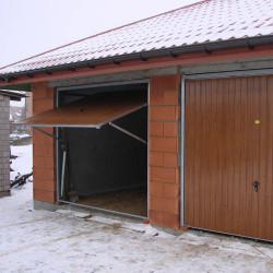 Brama Uchylna 2000 x 2000 Złoty dąb