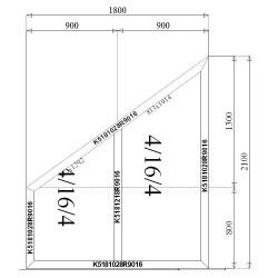 Okno Aluminiowe SKOS 1800 x 2100