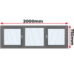 Okno Aluminiowe 2000 x 750
