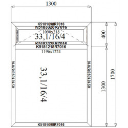 Okno Aluminiowe  1300 x 1700