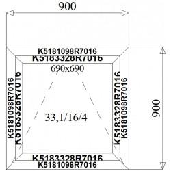 Okno Aluminiowe  900 x 900