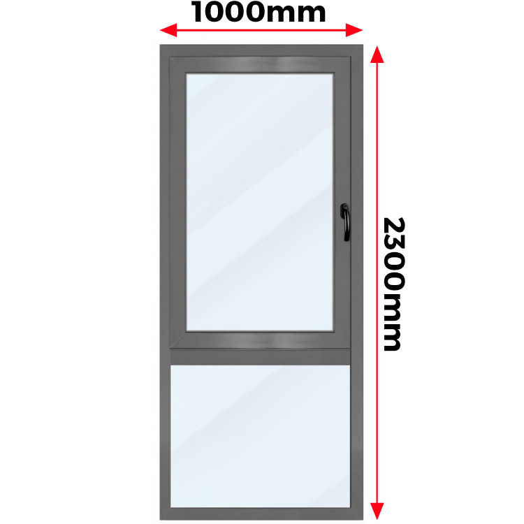 Okno Aluminiowe  1000 x 2300