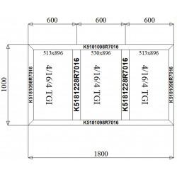 Witryna Aluminiowa 1800 x 1000