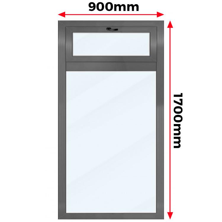 Okno Aluminiowe  900 x 1700