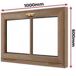 Okno drewniane 1000 x 600 mm