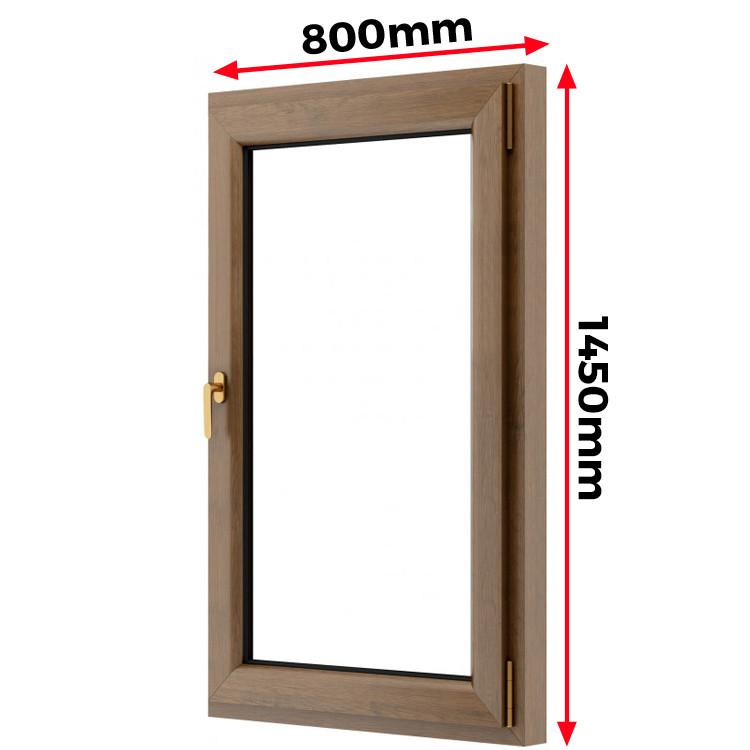Okno drewniane 800 x 1450 mm