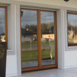 Okno drewniane 700 x 2350 mm