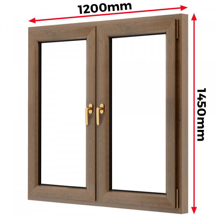Okno drewniane 1200 x 1450 mm