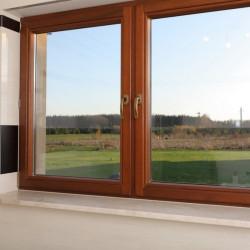 Okno drewniane 1340 x 1360 mm