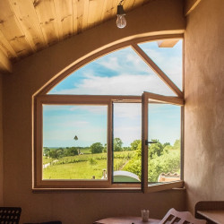 Okno drewniane 1650 x 1850 mm