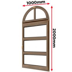 Okno drewniane 1000 x 2000 mm
