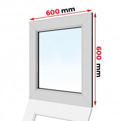 Okno PCV 600 x 600 FIX
