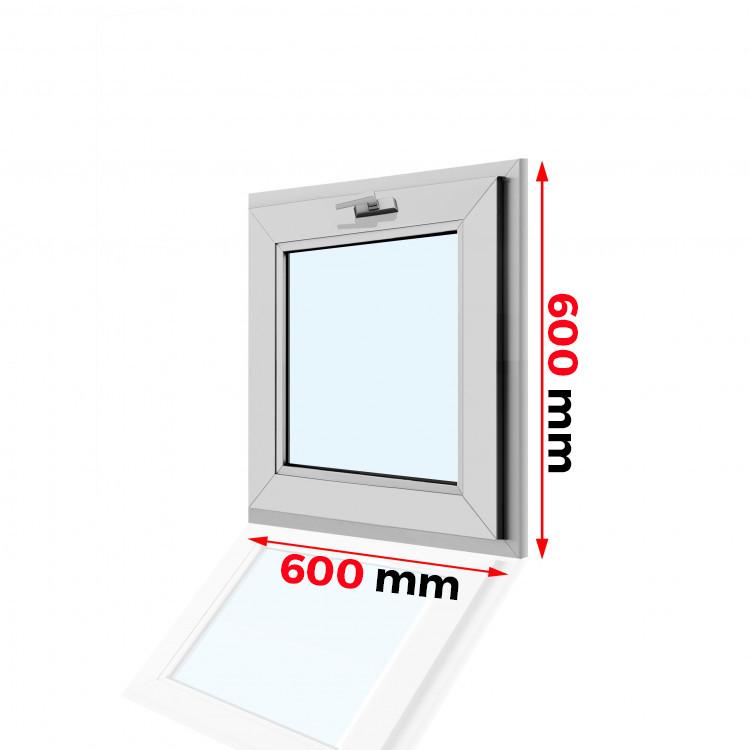 Okno PCV 600 x 600 U