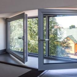 Okno Aluminiowe Stałe PPOŻ 1000 x 1000