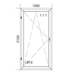 Okno PCV z nakładką Aluskin 1080 x 2100