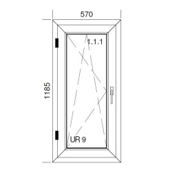 Okno PCV z nakładką Aluskin 570 x 1185