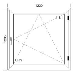 Okno PCV z nakładką Aluskin 1220 x 1205