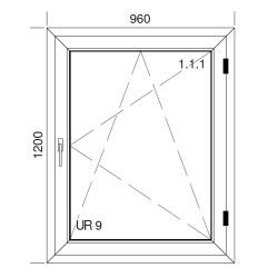 Okno PCV z nakładką Aluskin 960 x 1200