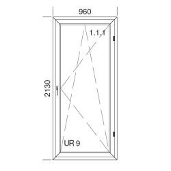 Okno PCV z nakładką Aluskin 960 x 2130
