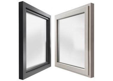 Okno drewniane z nakładką 1000 x 1000