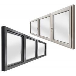 Okno drewniane z nakładką 2500 x 1000
