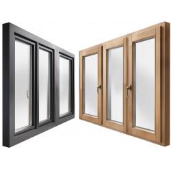 Okno drewniane z nakładką 2500 x 2100