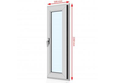 Drzwi balkonowe PCV 500 x  2200