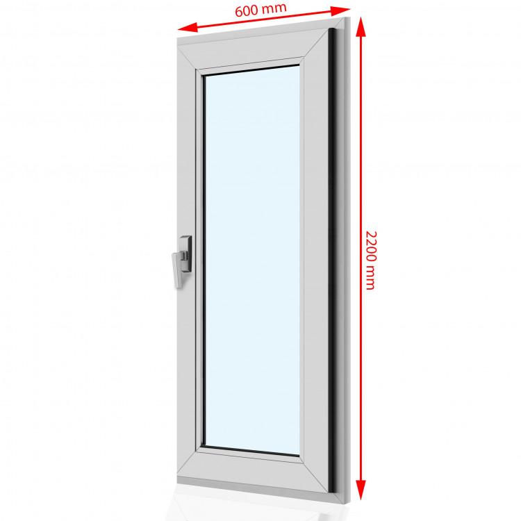 Drzwi balkonowe PCV  600 x 2200