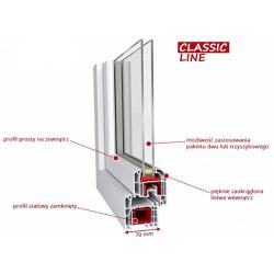 Drzwi balkonowe PCV 900 x 2200