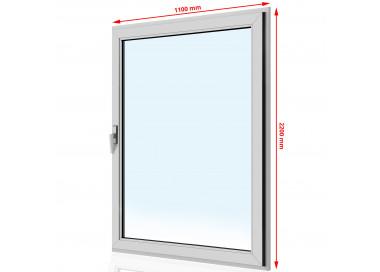 Drzwi balkonowe PVC 1100 x 2200