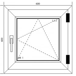 Okno PCV 600 x 600