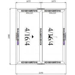 Drzwi Aluminiowe HST 2150 x 2400
