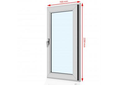 Drzwi balkonowe PCV 700 x 2200