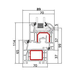 Drzwi balkonowe PCV  800 x  2200