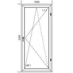Drzwi balkonowe PCV 1000 x 2200
