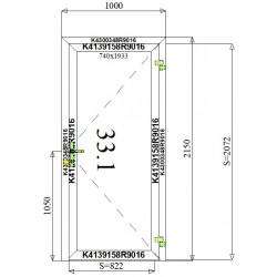Okno Aluminiowe 1000 x 2150