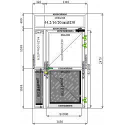 Drzwi Aluminiowe PPOŻ 1140 x 2475