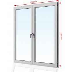 Drzwi balkonowe  PCV 1500 x 2200