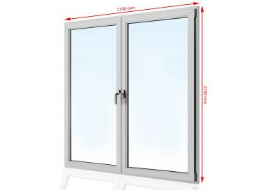 Drzwi balkonowe  PCV 1700 x 2200