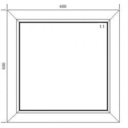 Okno PVC 600 x 600