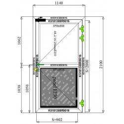 Drzwi Aluminiowe PPOŻ 1140 x 2100