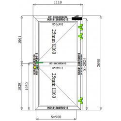 Drzwi Aluminiowe PPOŻ 1110 x 2090