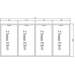 Scianka Stała Aluminiowa PPOŻ 5370 x 2500