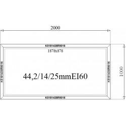 Okno Stałe Aluminiowe PPOŻ 2000 x 1000