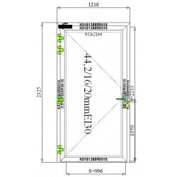 Drzwi Aluminiowe PPOŻ 1218 x 2325